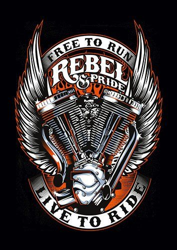 Rebel and pride cer - From £17.50   Metal Plate Pictures
