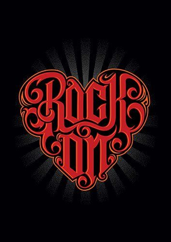 Rock on heart cer - From £17.50   Metal Plate Pictures