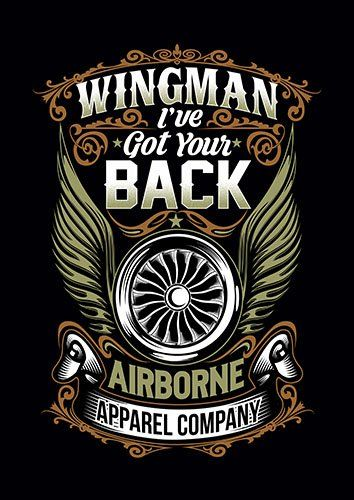Wingman I Have Got Your Back CK - From £17.50 | Metal Plate Pictures