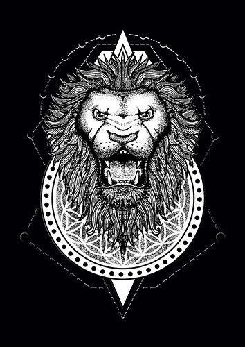Lion Sacred BW CD - From £17.50 | Metal Plate Pictures