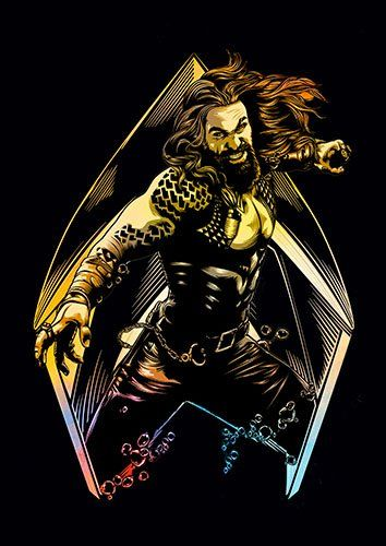 Aquaman Colour - From £17.50 | Metal Plate Pictures