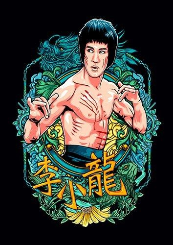 Bruce Lee Kung Fu - From £17.50 | Metal Plate Pictures