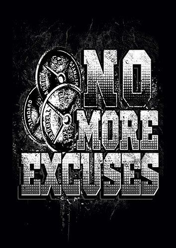 No More Excuses gym weights kla - From £17.50 | Metal Plate Pictures