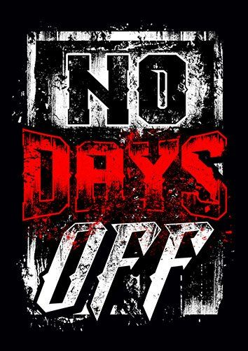 No Days Off kla - From £17.50 | Metal Plate Pictures
