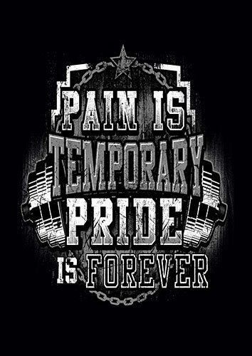 Pain Is Temporary gym training kla - From £17.50 | Metal Plate Pictures
