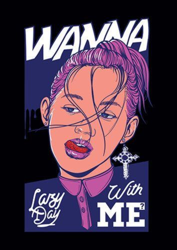 Wanna Lazy Day Mag, Sandy\Brown\Blue\Mix colour, X-Large A1 24x36Inch size - From £17.50 | Metal Plate Pictures