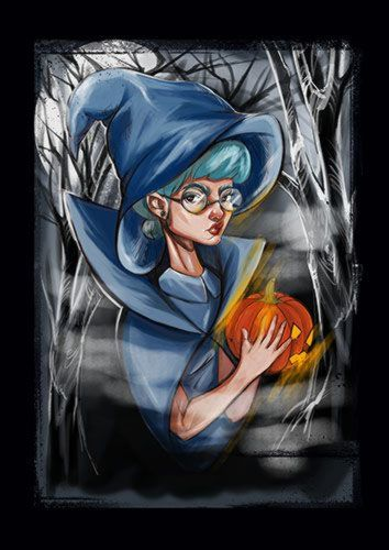 Pumpkins Queen Mag, Sandy\Brown\Blue\Mix colour, X-Large A1 24x36Inch size - From £17.50 | Metal Plate Pictures