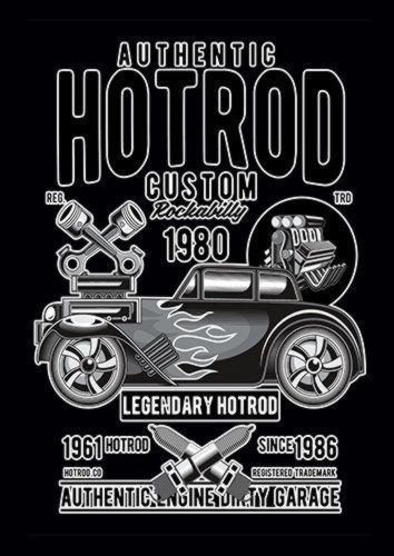 Hotrod Custom Ns, Sandy\Brown\Blue\Mix colour, X-Large A1 24x36Inch size - From £17.50 | Metal Plate Pictures