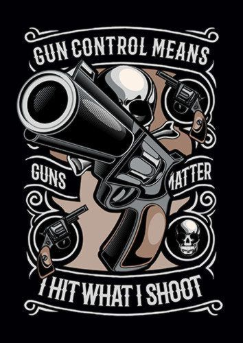 Gun Control Ns, Sandy\Brown\Blue\Mix colour, X-Large A1 24x36Inch size - From £17.50 | Metal Plate Pictures