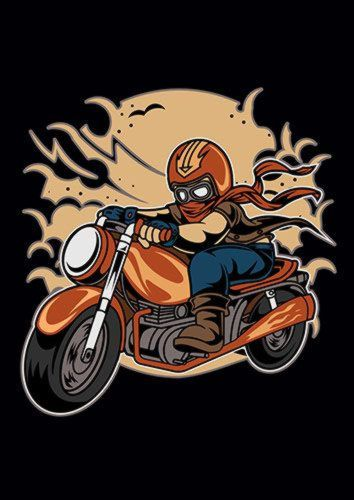 Wild Biker Ns, Sandy\Brown\Blue\Mix colour, X-Large A1 24x36Inch size - From £17.50 | Metal Plate Pictures