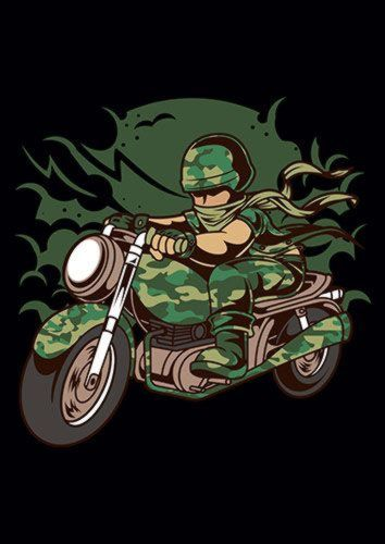 Army Motorcycle Ride Ns, Sandy\Brown\Blue\Mix colour, X-Large A1 24x36Inch size - From £17.50   Metal Plate Pictures