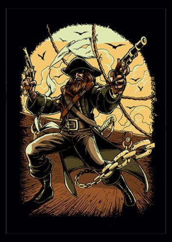 Pirate Colored Ns, Sandy\Brown\Blue\Mix colour, X-Large A1 24x36Inch size - From £17.50 | Metal Plate Pictures