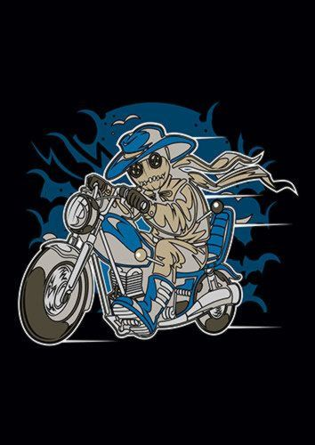 Voodoo Doll Biker Ns, Sandy\Brown\Blue\Mix colour, X-Large A1 24x36Inch size - From £17.50 | Metal Plate Pictures