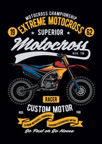 Extreme Motocross Ns, Sandy\Brown\Blue\Mix colour, X-Large A1 24x36Inch size - From £17.50 | Metal Plate Pictures