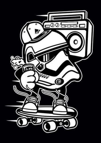 Street Trooper, Sandy\Brown\Blue\Mix colour, X-Large A1 24x36Inch size - From £17.50   Metal Plate Pictures