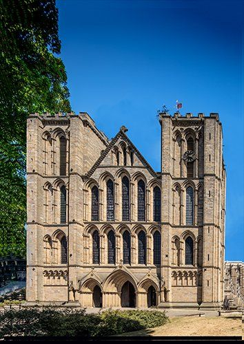 Ripon cathedral uk, Black colour - From £17.50 | Metal Plate Pictures