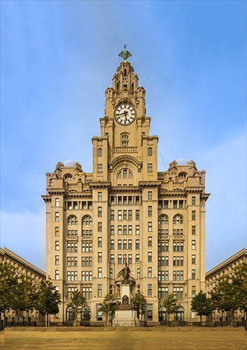 Royal liver building uk, Black colour - From £17.50 | Metal Plate Pictures