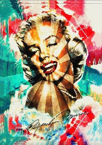 Marilyn art, Black colour - From £20.50 | Metal Plate Pictures