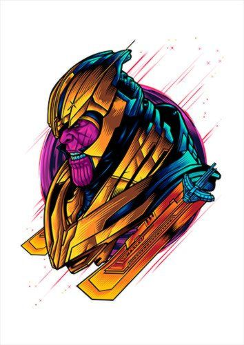 Thanos End Game White Dlo, Black colour, X-Large A1 24x36Inch size - From £17.50 | Metal Plate Pictures