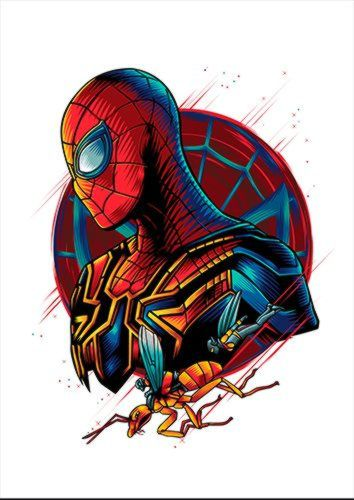 Spidey White Dlo, Black colour, X-Large A1 24x36Inch size - From £17.50 | Metal Plate Pictures