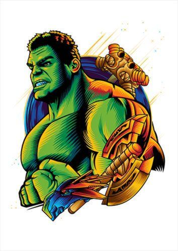 Hulk White Dlo, Black colour, X-Large A1 24x36Inch size - From £17.50 | Metal Plate Pictures
