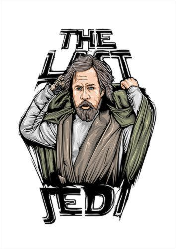 Luke Skywalker Reverse White Dlo, Black colour, X-Large A1 24x36Inch size - From £17.50 | Metal Plate Pictures