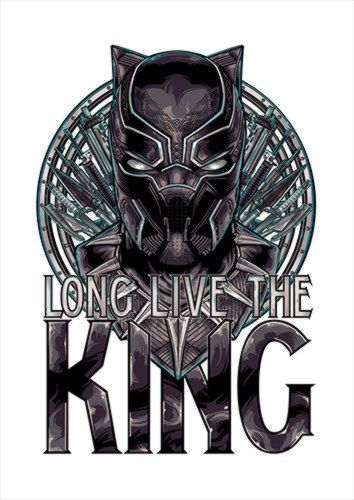 Black Panther Combined White Dlo, Black colour, X-Large A1 24x36Inch size - From £17.50 | Metal Plate Pictures