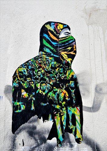 Street Art Graffiti Facade Urban Art Berlin Spray, Black colour - From £17.50 | Metal Plate Pictures