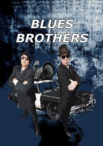 Blues brothers car, Black colour - From £17.50 | Metal Plate Pictures