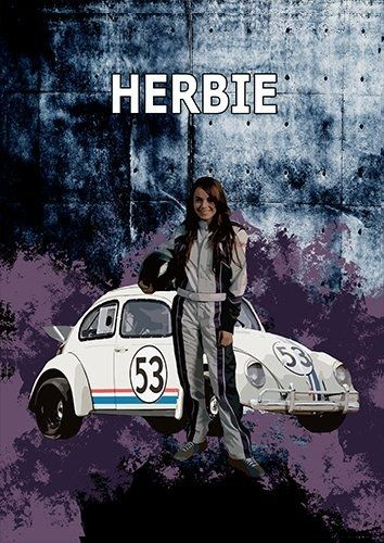 Herbie car, Black colour - From £17.50 | Metal Plate Pictures
