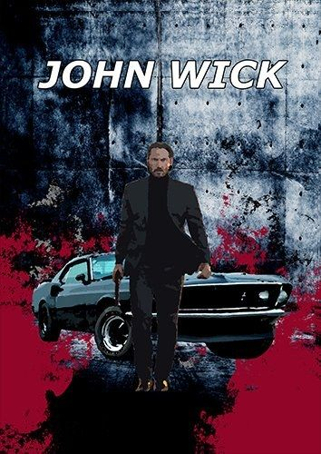 John Wick car, Black colour - From £17.50 | Metal Plate Pictures