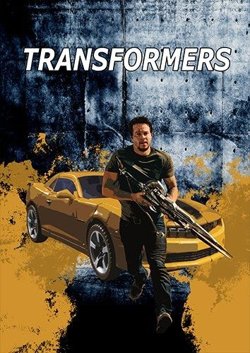 Transformers car, Black colour - From £17.50 | Metal Plate Pictures
