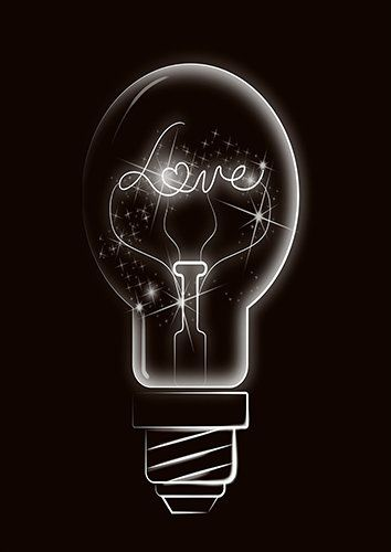 Light of love, Black colour - From £17.50 | Metal Plate Pictures