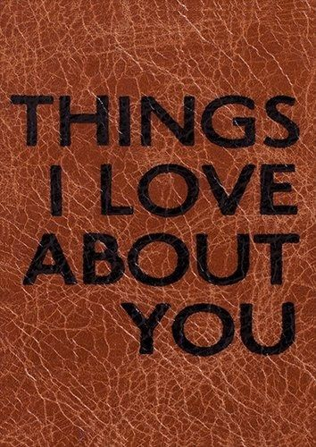 Things i love about you, Black colour - From £17.50 | Metal Plate Pictures