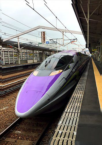 Bullet train purple trains, Black colour - From £17.50 | Metal Plate Pictures