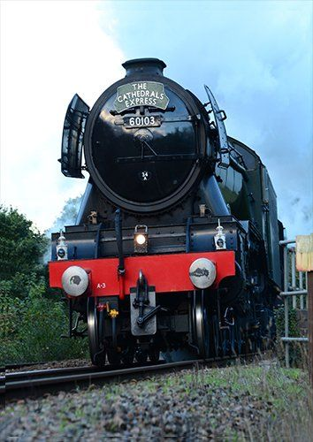 Flying Scotsman Engine train, Black colour - From £17.50 | Metal Plate Pictures