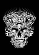 Skull Bike Engine