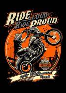 Ride Proud Biker Poster