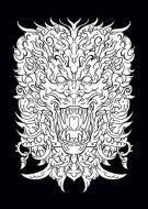 Black and White Ornamental Lion