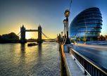 London bridge dusk evening