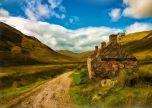 Scotland mountain hils painting