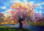 Swirling trees Nature Beauty Brush Art painting