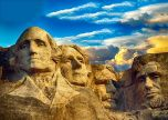 America ancient architecture four farthers landscape