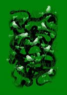 Snakes And Birds Green Aa