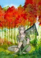 Pixi in the woods fantasy