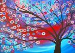 Abstract tree colourfull circles