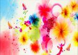 Floral art paint