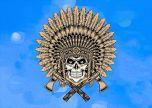 Indian skull art