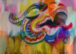 Carnival dragon head