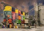Facility silos industrial street art